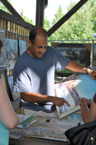 Carlton Manzano at the Ithaca Artist Market