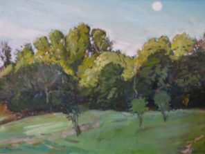 """August Blue Moon, 18"""" x 24"""", SOLD"""
