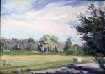 """Cass Park Shadows, oil on canvas, 14"""" x 18"""""""