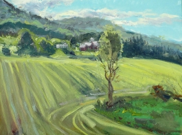 "Dryden Farm, oil on canvas, 16"" x 20"", SOLD"