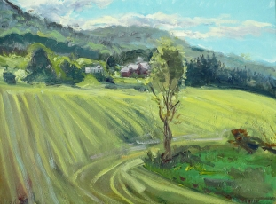 """Dryden Farm, oil on canvas, 16"""" x 20"""""""