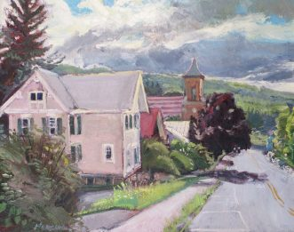 "First Presbyterian Church, oil on canvas, 16"" x 20"", SOLD"