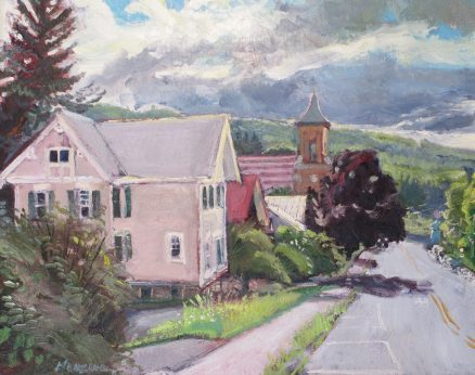 "First Presbyterian Church, oil on canvas, 16"" x 20"", SOLD"