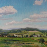 "SOLD Hart Hill, Dryden, 16"" x 20"""