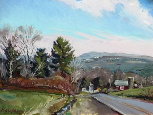 "SOLD Ithaca College, oil on canvas, 16"" x 20"""