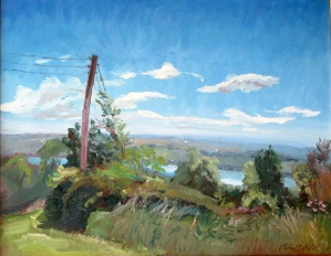 """Lake View, oil on canvas, 16"""" x 20"""""""