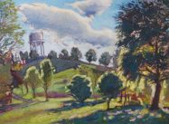 """Plantation Water Tower, 18"""" x 24"""", SOLD"""