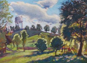 "Plantation Water Tower, 18"" x 24"", SOLD"