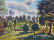 """SOLD Plantation Water Tower, 18"""" x 24"""""""