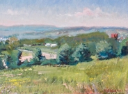 """View from Turkey Hill Road, 12"""" x 16"""""""