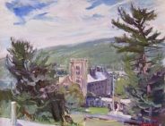 """View of Cornell Campus, 20"""" x 24"""""""