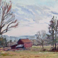 "Farm on Wood Road. 12"" x 16"", $375"