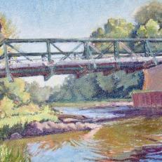 "Freese Road Bridge, 16"" x 20"" $500"